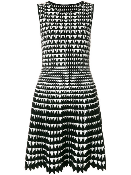 Antonino Valenti dress women geometric black wool pattern
