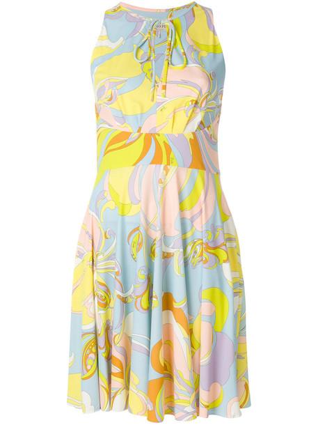 Emilio Pucci dress shift dress women blue silk