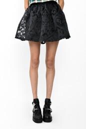 skirt,minty jungle,bubble,bubble skirt,burnout,black