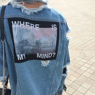 jacket girl fashion ida greco jeans azure tumblr outfit tumblr pale grunge cool hipster quote on it image stylish urban ripped jeans pintrest indie denim ripped grounge