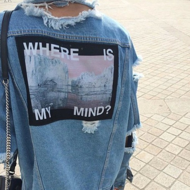 jacket girl fashion ida greco jeans azure tumblr outfit tumblr pale grunge cool hipster quote on it image stylish urban ripped jeans pintrest indie denim ripped ripped grounge