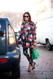 coat,floral