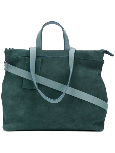 Marsèll - Borso tote - women - Leather/Suede - One Size, Green, Leather/Suede
