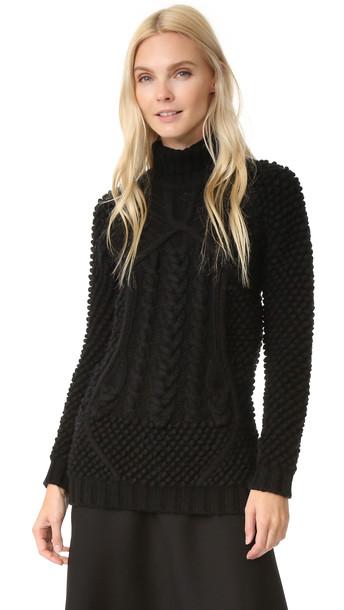 Prabal Gurung Turtleneck Sweater - Black