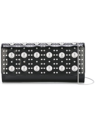 studded women bag shoulder bag black