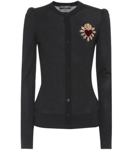 Dolce & Gabbana cardigan cardigan embellished wool black sweater