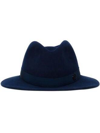 classic hat fedora blue