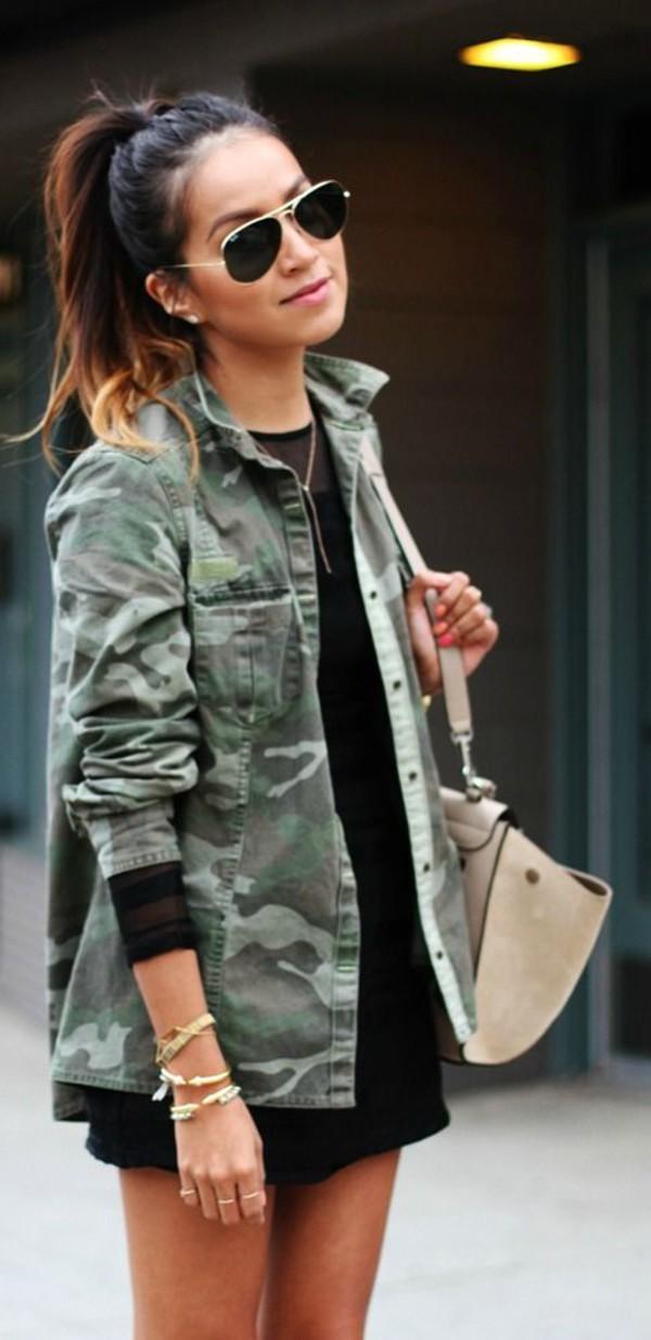 Camouflage jackets women