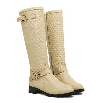 shoes boot zip knee high
