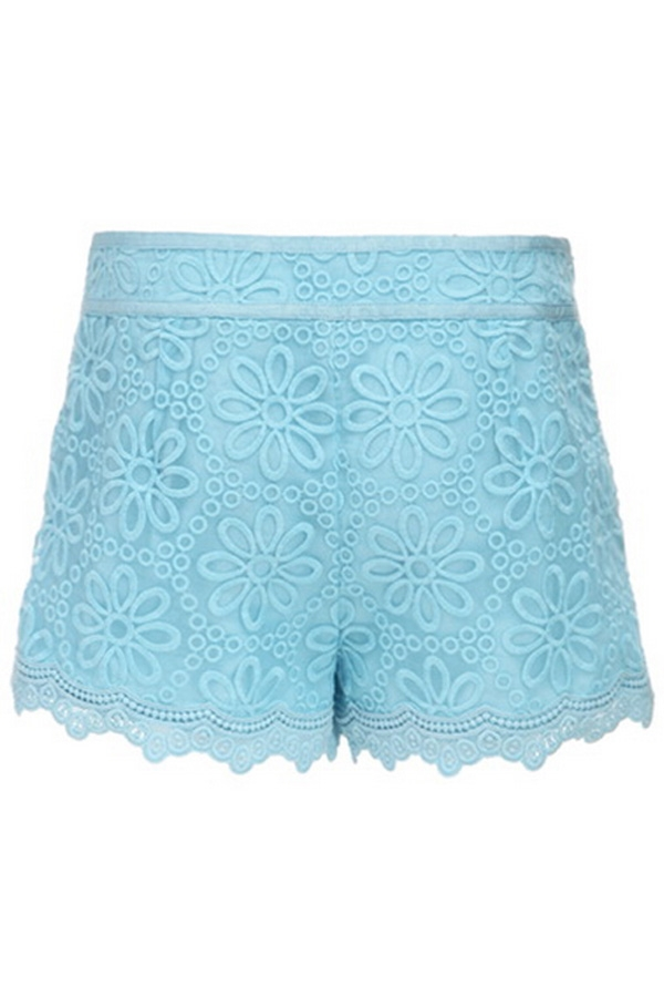 Embroidered Organza Shorts - OASAP.com