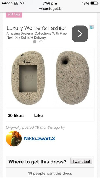 phone cover grey stone case