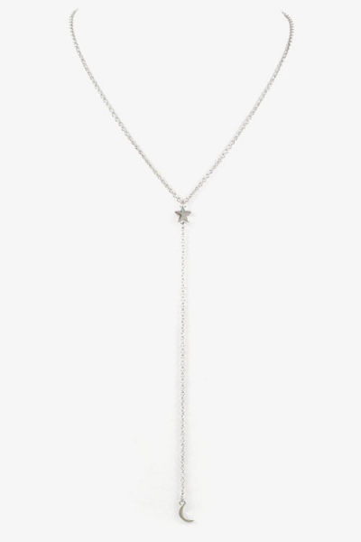 Star & Moon Y-Chain Necklace