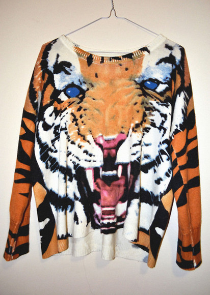 minkpink sweater tiger print