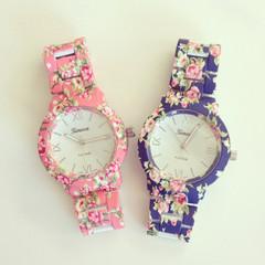 Floral june metal watch – shopebbo