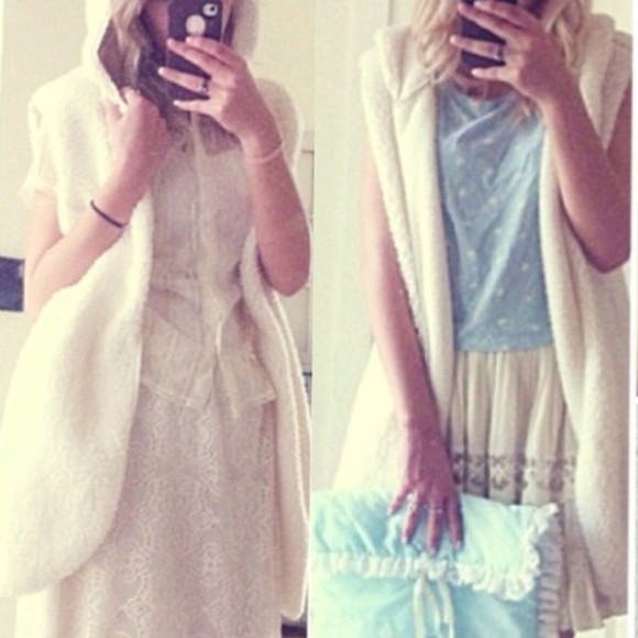 white cute kawaii cardigan fluffy