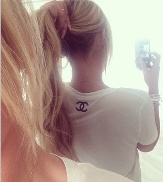 shirt white chanel t-shirt