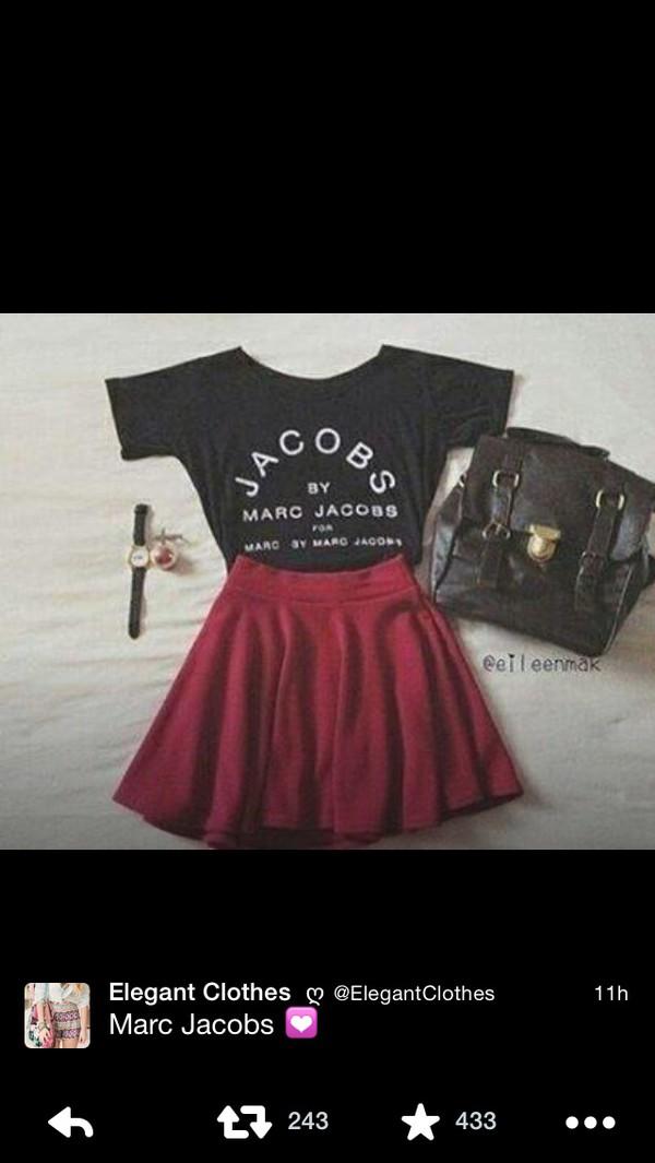 burgundy skirt skirt