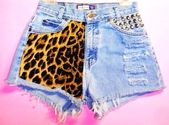 shorts short tiger print jeans dope wishlist