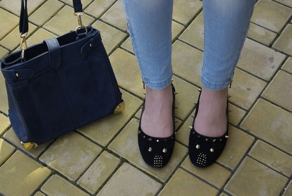 shoes rivet bag black shoes cute shoes rivet shoes women shoes