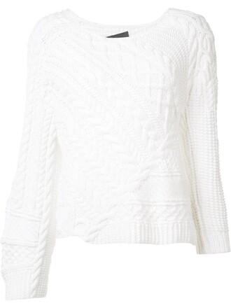 jumper women white cotton sweater