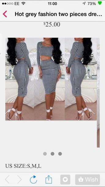 shoes dress blackandwhite perfect ass shirt two piece dress set
