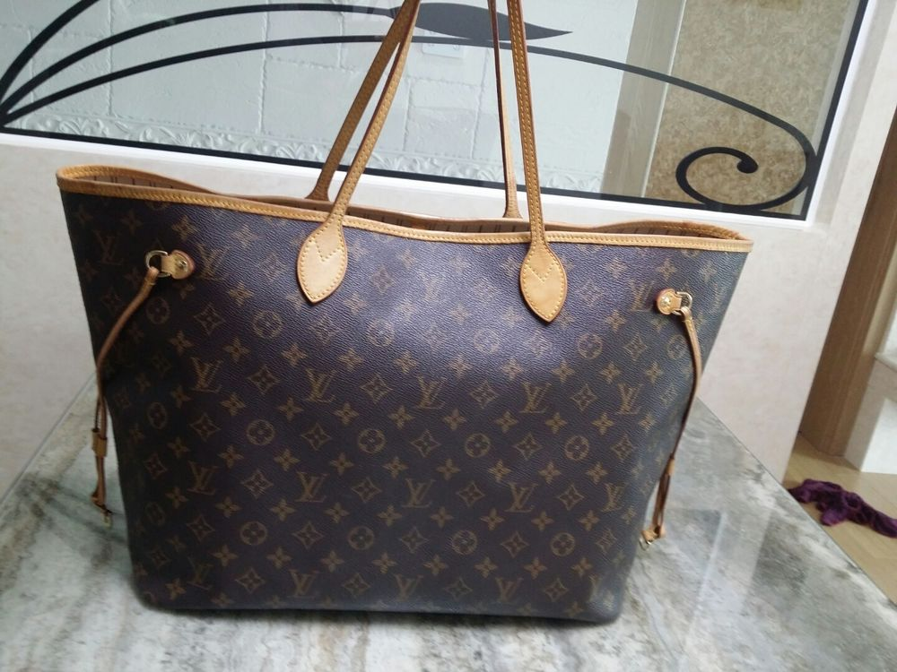 4dad106c10d4 Authentic LV Louis Vuitton Monogram Neverfull GM Shoulder bag ...