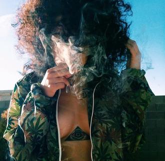 jacket cannabis cannabis clothing loud green jacket bomber jacket trees weed jacket weed plants