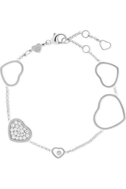 Chopard - Happy Hearts 18-karat White Gold Diamond Bracelet
