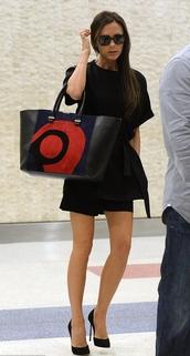 dress,little black dress,bag,shoes,victoria beckham
