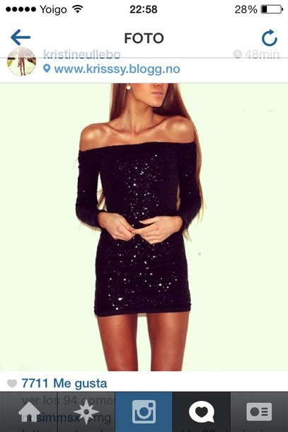 dress sequins sequin dress black sequin dress mini dress short dress short prom dress black dress sparkle sparkly dress off the shoulder off the shoulder sweater off the shoulder dress bodycon dress club dress cute cute dress black tumblr pinterest tumblr outfit tumblr clothes