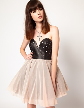 Faux Leather Prom Dress