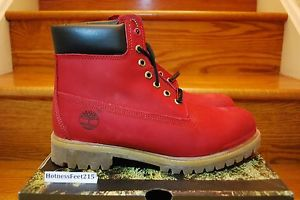 "Timberland Villa Boot Red Ruby Black 6"" inch 6942R Limited Men's Size 8 15 