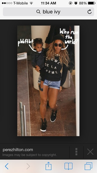 beyoncé sweater quote on it