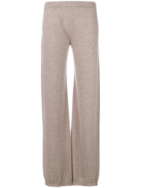 Max Mara women nude wool pants