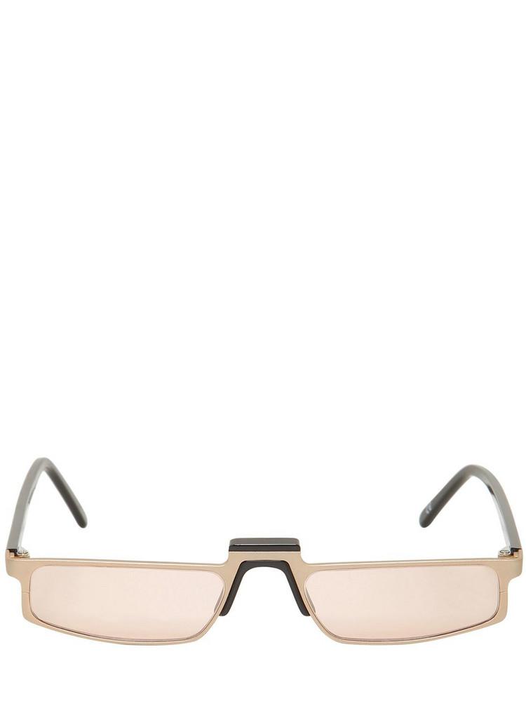 ANDY WOLF Muhren Rectangular Sunglasses in beige / beige