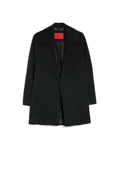 wide lapel coat