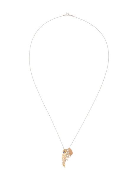 women animal necklace diamond necklace gold grey metallic jewels