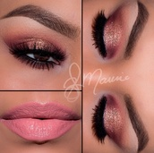 make-up,i love this look,real cute,eyebrows,eyebrows on fleek,eye makeup,eye shadow,eyelashes,eyeliner,cute,perfecto,peach,shimmer,pink,gold,glitter,sparkle,ombre,bright,color/pattern,pastel pink,flawless,arched eyebrows,rose gold,matte,matte pink,crease,i love,cute look,pretty