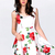 White Sleeveless Bandeau Floral Tank Dress - Sheinside.com