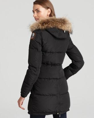 coat parka fur hood black coat winter coat