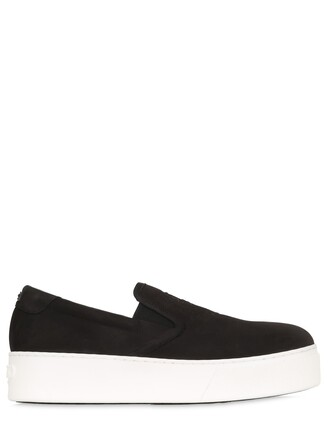tiger sneakers suede black shoes