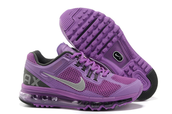 Nike Air Max 2013 Laser Purple Reflective Silver Midnight Fog-Womens