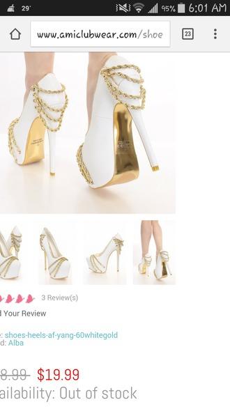 shoes chain high heels