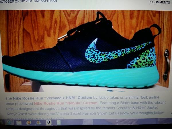 shoes nike roshe run roshe runs light blue black versace h&m nebula custom shoes