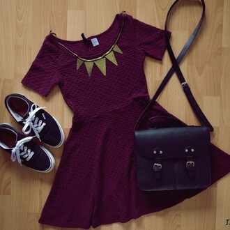 dress purple dress purple date outfit mini dress girly prom dress prom mini dress necklace jewels bag shoes vans black