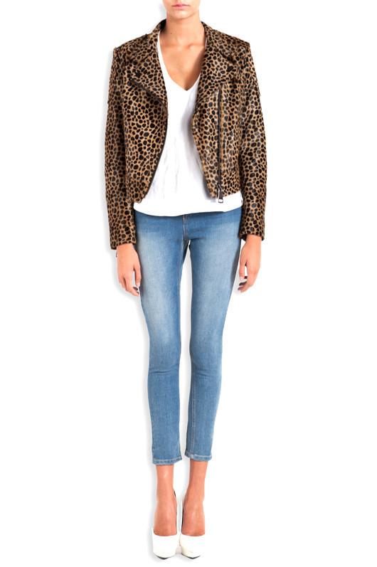 Rumi Leopard Biker Jacket - MLLE Mademoiselle