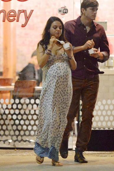 dress maxi dress maternity maternity dress mila kunis