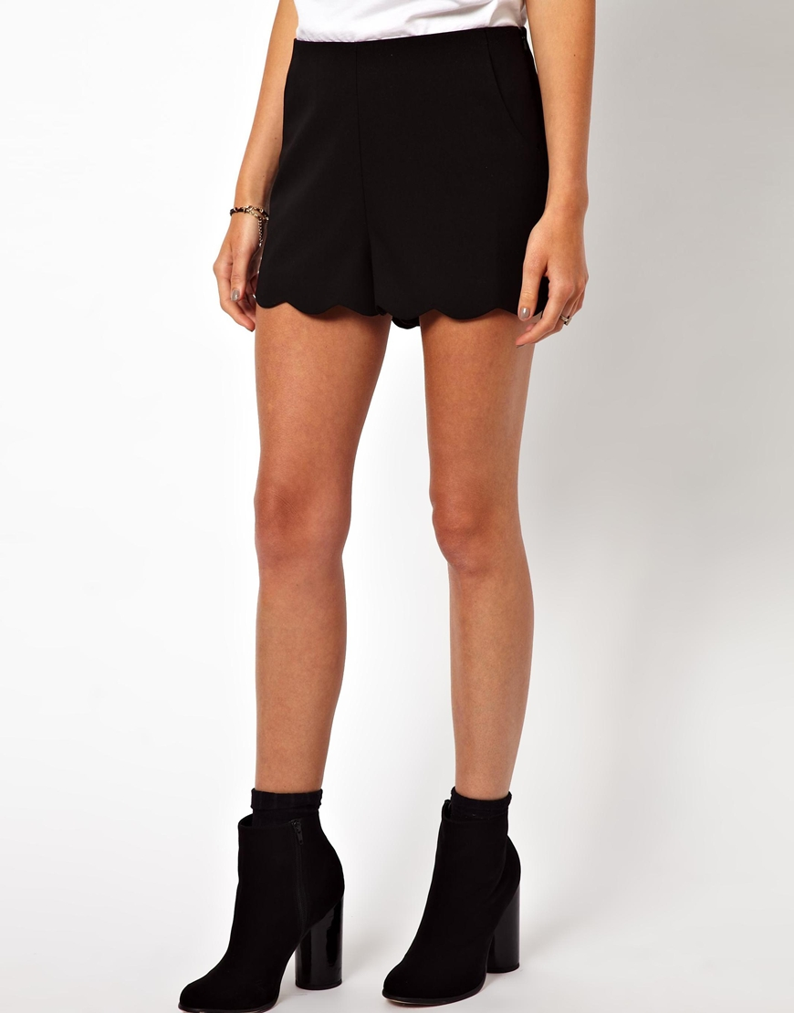 ASOS Shorts with Scallop Hem at asos.com