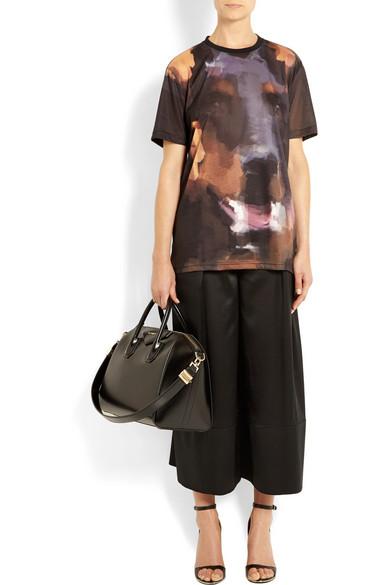 Medium antigona bag in black leather
