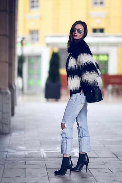 venka vision blogger jacket jeans shoes bag sweater